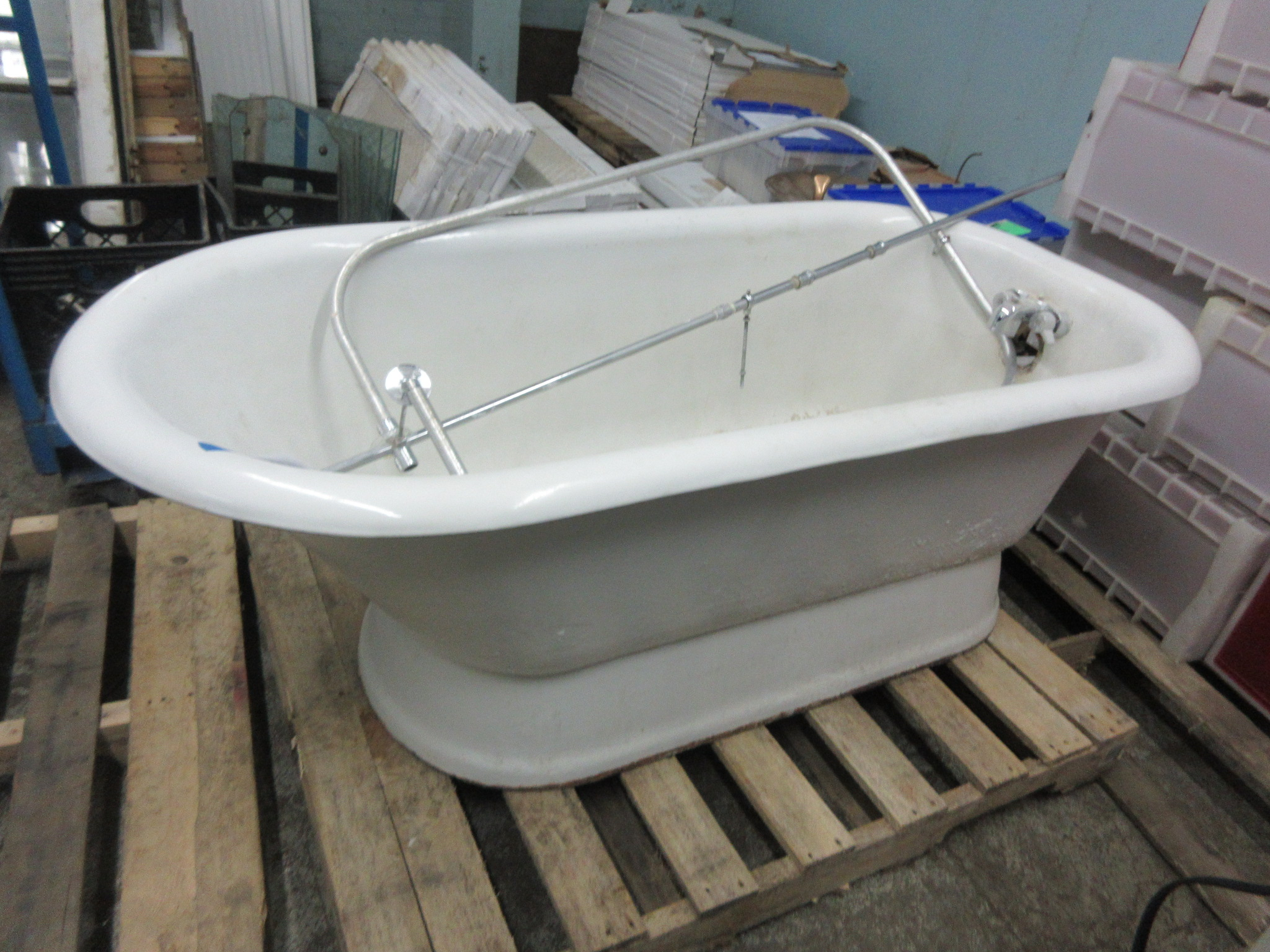 Claw Foot Tub With Skirt And Shower Assembly