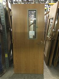 Warnock Hersey Interior Fire Door W Chicken Wire Glass Window