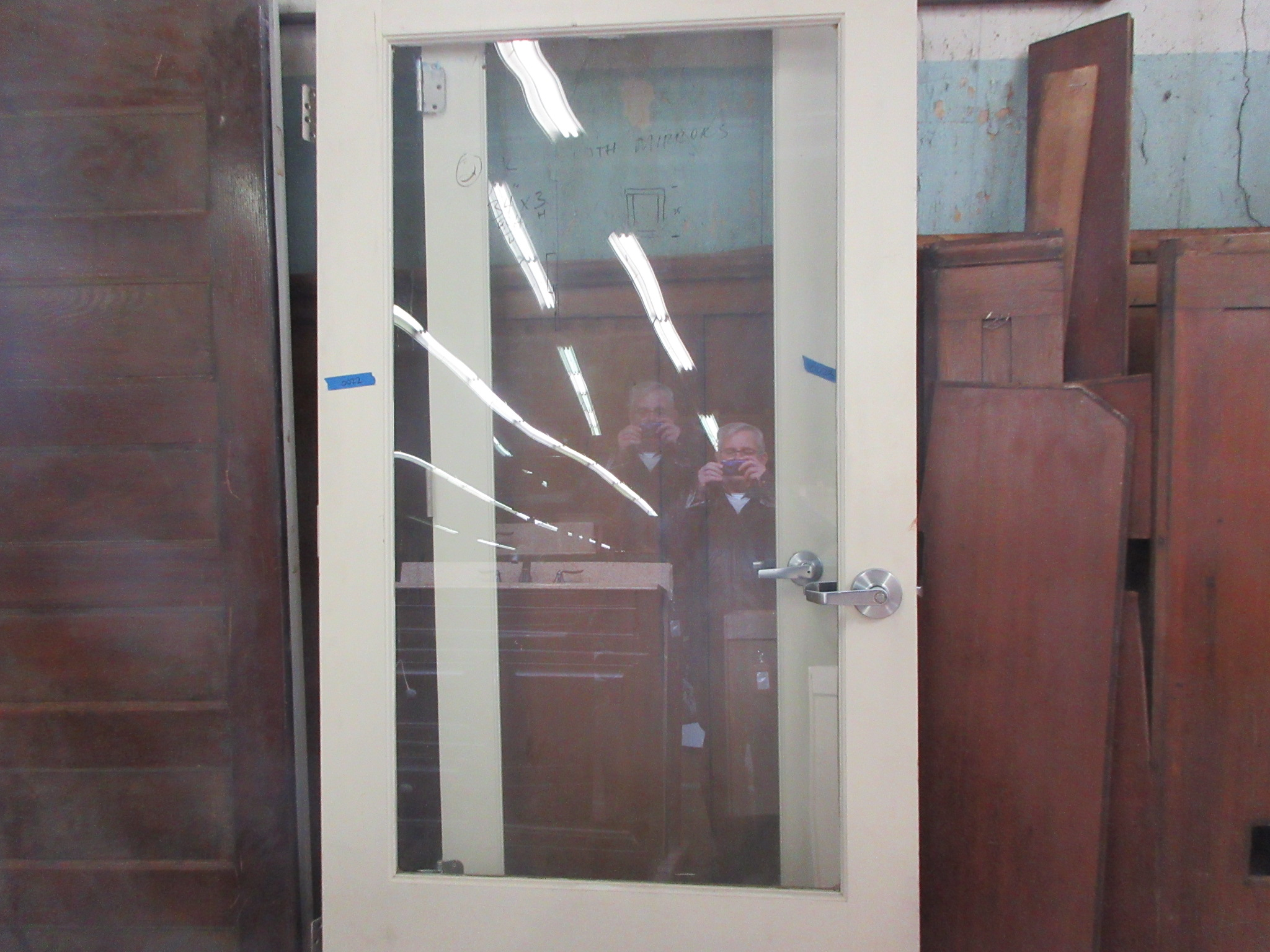 Solid Wood And Glass Commercial Door