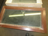 Metal Framed Chicken Wire Glass Transom Window