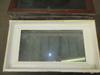 Wood Frame Chicken Wire Glass Transom Window