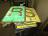Lot of Construction Letter Signs