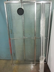 2 Pcs. Sliding Shower Door w/Tracks