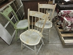 Wood chairs- painted