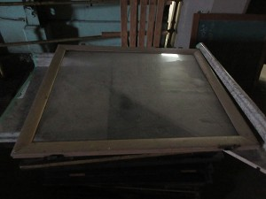 Cabinet door with glass
