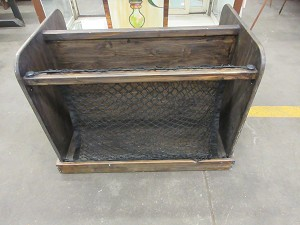 Floor cabinet with netting and shelves