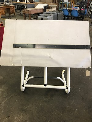 Adjustable Drafting Table w/ Rubber Surface