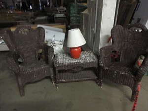 Wicker Furniture set (2-chairs and table)