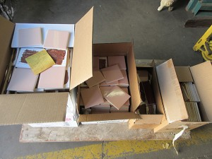 Lot of Tile (Pink and Burgundy)