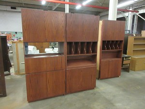 Tall office cabinets - credenza style