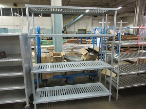 Galvanized Steel 4 Shelf Storage Shelving