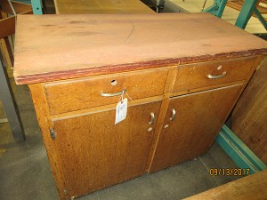 School House Salvage Solid Wood School Cabinet