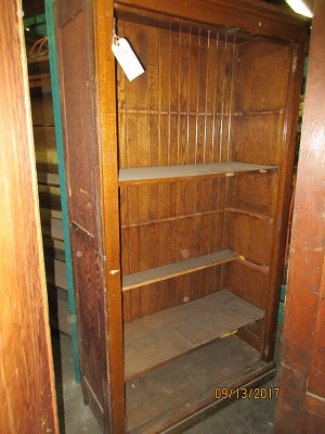 School House Oak Cabinet w/ Interior Shelviing