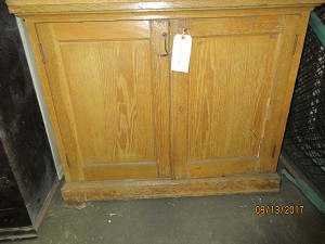 School House Salvage Oak Cabinet