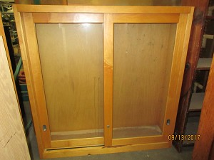School House Salvage Solid Wood Mounted Cabinet