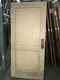 Solid Wood 2- Panel Door w/ Brass Hardware Included