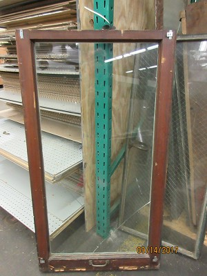 Single Pane Wood Casement Window w/ Handle