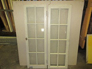 Set of (2) 8-Lite Hinged Windows