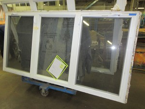 Newer 3 Panel Aluminum Storm Window w/ Screens