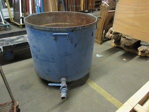Large Steel Tub with Drain