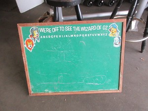 School chalkboard- green