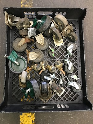 Lot of Small Castors and Wheels