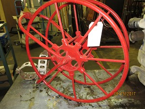 Vintage Fire Hose Wheel